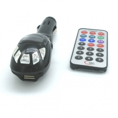 Auto FM Transmitter Kit Support SD/MMC Card /MP3/USB/Audio Devices Wireless Car MP3 Player