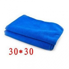 5X Cleaning Towel Soft Water Absorbent Fiber Home Kitchen Car Bicycle Wipe Wash Cloth 30*30