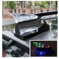 Wind Power Shark with LED Lamp Car Decorate Aerials Antenna Auto Vehicle Decoration Lights Wireless