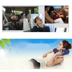 27.6*41.3cm Inflatable Car Travel U-Shape Comfort Headrest Neck Protection Pillow Foldable Headrest