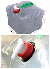 Folding Car Collapsible Water Storage Bag Transparent Fishing Barrel 10L Vaccum Compressed Bag