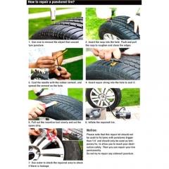 Car Auto Bike Tubeless Tire Tyre Puncture Plug Repair Tool Kit