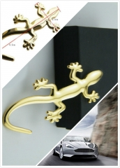 Car Styling Gold Car Truck Auto Motor Sticker Decals Fashion Car 3D Gecko Metal Emblem Badge