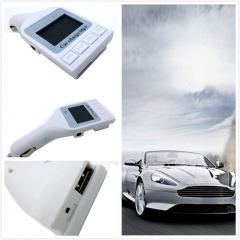 Multi-function Car Charger MP3 FM Transmitter with Remote Control Supports TF/USB