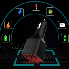 Universal 3 Port USB Car Charger with Air Purifier 5V/3.1A Fast Charging Car USB Charger Adapter