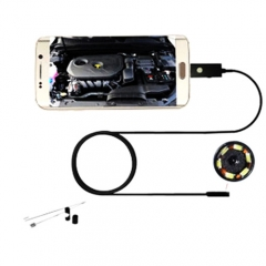 7mm 6 Led Android Phone Endoscope Inspection Borescope HD LED Camera video 1M
