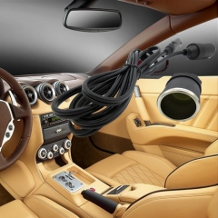 2M Durable Car Cigarette Lighter Socket Extension Cord Cable Car Cable