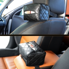 High Quality Leather  Fashionable Car Tissue Box Rectangle