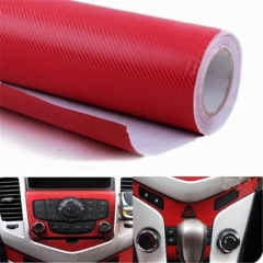 63x 100 3D Carbon Fiber Vinyl Car DIY Wrap Sheet Roll Film Sticker Decal