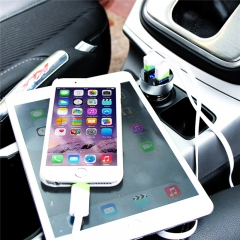 Intelligent Car-Charger Dual USB 5V Dynamic 3.1A High Quality Car Charger Car Voltage Diagnostic