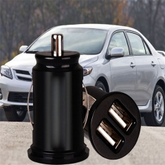 Universal Car-Charger 2.1A Dual USB Charger Mini USB Adapter for Car Charging