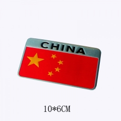 1pcs / lot Car Styling Chinese red flag body paste pure metal flag personalized car stickers