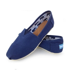 denim mens Slip-On Espadrille Shoes linen sole canvas men shoes SSFT-001 blue 43