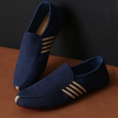 Men's Moccasins shoes casual Shoes blue 42