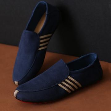 Men's Moccasins shoes casual Shoes blue 42