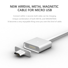 Micro USB charger cable For Android Magnetic cable For HTC / XiaoMi/Huawei White