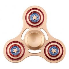 New Stress Relief Tri Metal Alloy Gyro Finger Tip Hand Spinner Desk Fidget Toys Captain America one size