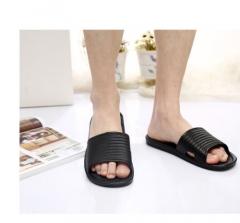 Mens Slip On Sport Slide Sandals Flip Flop Shower Shoes Slippers House Gym New Black 40 41  42 43 44