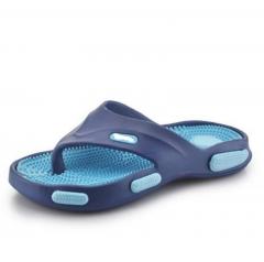 3 Men's Casual Massage Sandals Flip Flops Sandals Slippers Wear Flat Beach Shoes blue 40 41  42 43 44