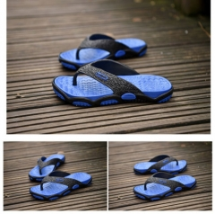 Men's Casual Massage Sandals Flip Flops Sandals Slippers Flat Beach Shoes blue 40 41  42 43 44