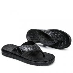 New Aleader Extremely Soft Flip Flops Men Sandals Beach Shoes Men High Quality black 40 41  42 43 44