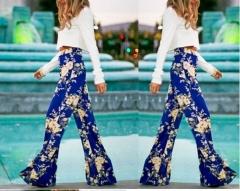 New printed Slim straight pants casual pants printing S