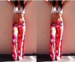 2017 summer new printed pants lady straight pants printing S