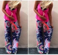 2017 printed ladies trousers casual pants printing S