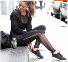 2017 autumn new products fight net yarn leisure sports yoga pants black S
