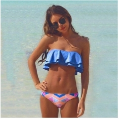 2017 summer new summer style wiping sexy sexy bikini color free size