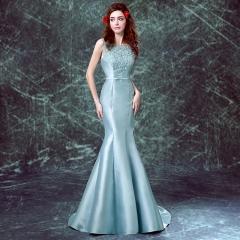 The new bride toast long dress wedding bridesmaid dress shoulder high Qi field models s