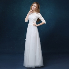 2016 spring and summer new lace wedding toast long dress white s