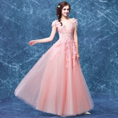 2016 bridesmaid tasting girl evening dress marry sexy evening dress pink s