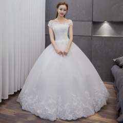 2016 spring and summer Korean bride wedding dress lace large size Slim was thin money white s