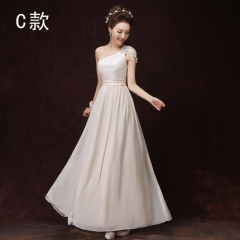 2016 new champagne bridesmaid dress sisters skirt wedding dress champagne C s