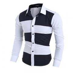 Men's casual long-sleeved shirt black m