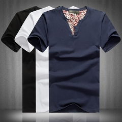 High quality T-shirt men's cotton T-shirt black M