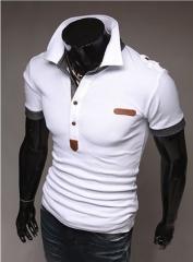 Fashion Slim Short Sleeve T-Shirt white M