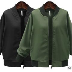 2017 autumn new fashion jacket all-match loose baseball uniform cardigan coat black XL