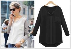 2017 autumn new fat plus fertilizer to increase the fashion loose underwear T-shirt black XL
