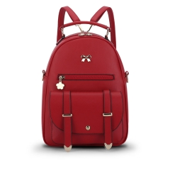 Fashion Shoulder Bag Simple Lady Backpack red 26cm*13cm*30cm