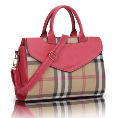 The trend of the bag Ms. Europe and the United States wild wild rose red 34cm*14.5cm*26cm