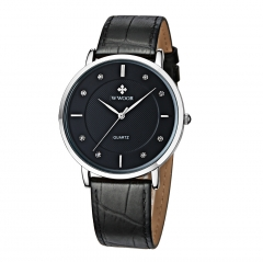 Luxury Brand Men Watches Ultra Thin Genuine Leather Clock Male Quartz Sport Watch Men Waterproof black