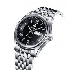 Luxury Watch Auto Date Men Stainless Steel Sport Watches Luminous Hours Casual Quartz Dress Watch black