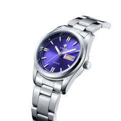 Quartz Wrist Women Watches Date Day Clock Female Stainless Steel Watch Ladies Fashion Casual Watch blue