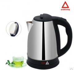 1.5L Stainless Steel Electric Kettle BRAND YEZHICONG Cordless Food Grade Material  Auto Shut Off One Color
