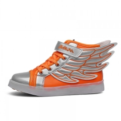 High tide luminous glow lamp Children help leisure Colorful Wings Of outdoor shoes orange 25