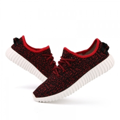 Fashion shoes, men and women sports breathe freely fly woven shoes casual shoes red 39