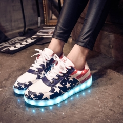 Women LED Casual Shoes Led Luminous Shoes Fashion Light shoes For Adults Navy Blue 33