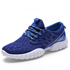 Men Lace Up Mesh Breatheable Sneaker Casual Running Shoes Sport Shoes for Men Blue 39
